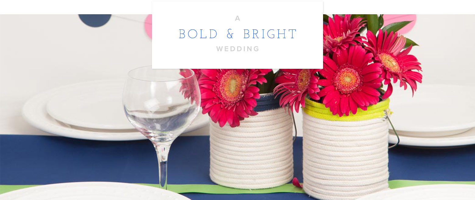 Bold & Bright Wedding